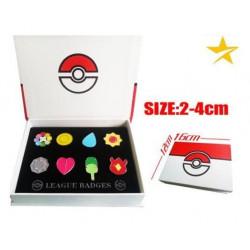 Caja medallas Pokemon Kanto pin box set SHIPS WORLDWIDE