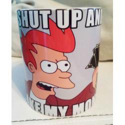 "Taza Fry Futurama ""Shut Up and take my money"""